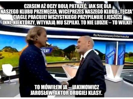Jakimowicz spotkał się ze swoim wielkim idolem - Macierewiczem