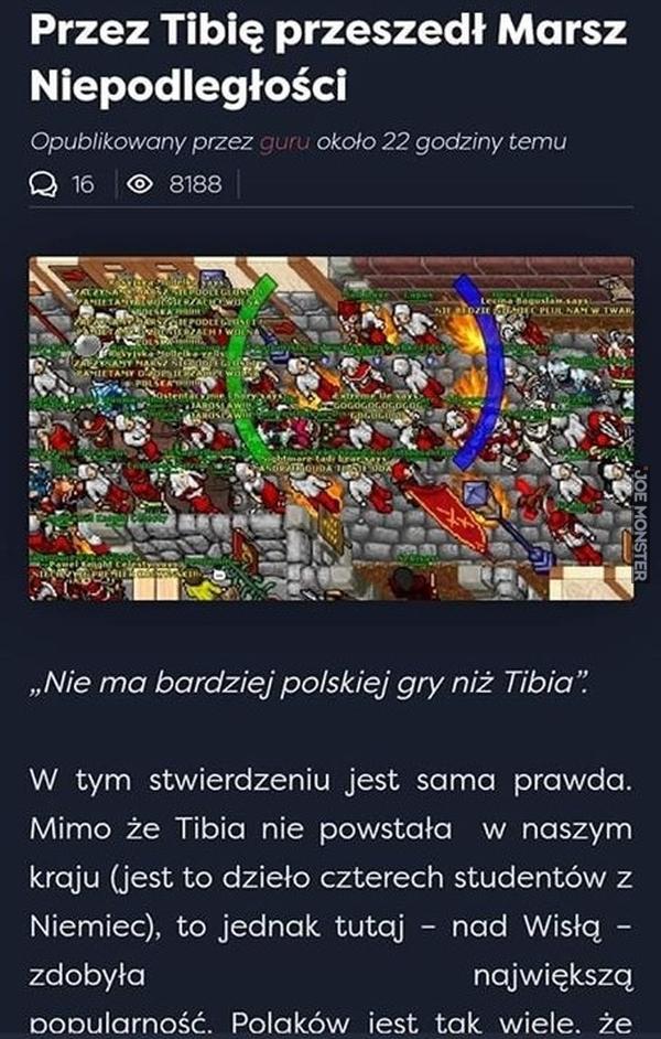 przez tibię przeszedł marsz niepodległości