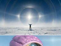 Słońce na Antarktyce