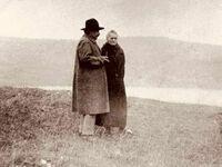 Albert Einstein i Maria Curie Skłodowska w Szwajcarii, 1925 rok