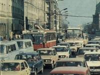 Podobno kiedyś nie było korków. Warszawa, lata 70.