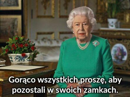 Apel królowej na czas lockdownu