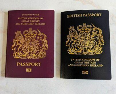 Paszport sprzed i po Brexicie