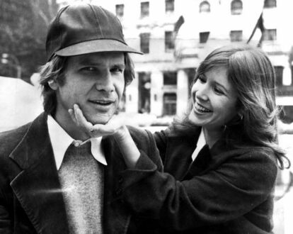 Harrison Ford i Carrie Fisher, 1980