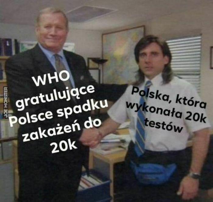 who gratulujące polsce spadku