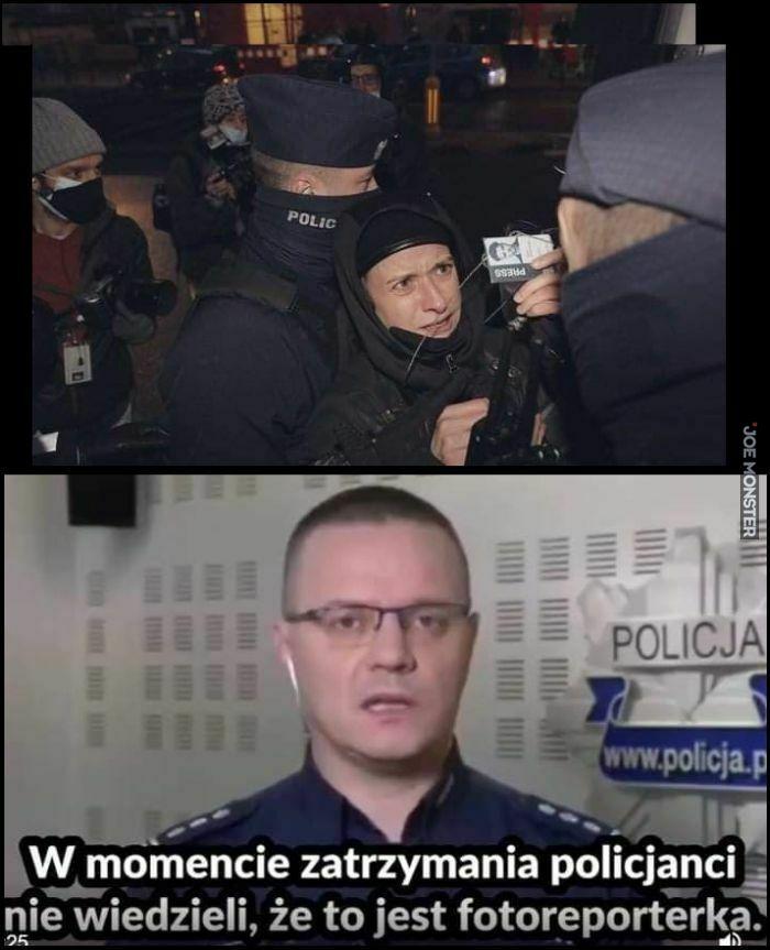 w momencie zatrzymania policjanci