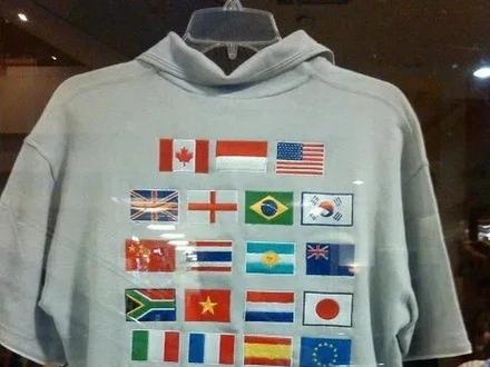 Znajdź flagę, która nie pasuje