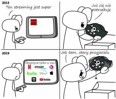 Serwisy streamingowe dawniej i dzisiaj