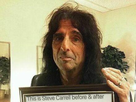 Steve Carrell przed i po zapaleniu marihuany