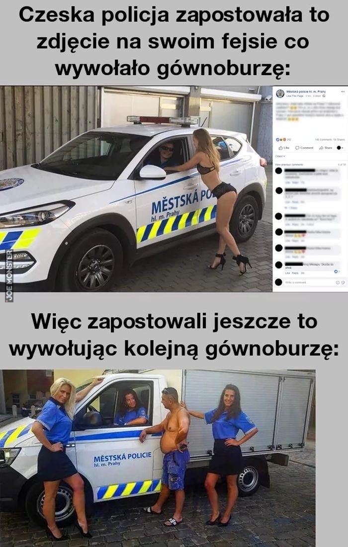 czeska policja zatostowała to zdjęcie na swoim fejsie