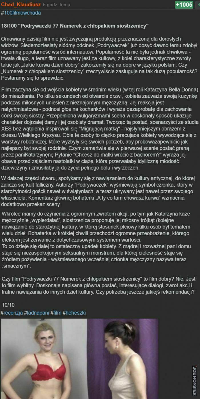 18/100 podrywaczki 77 numerek z chłopakiem siostrzenicy