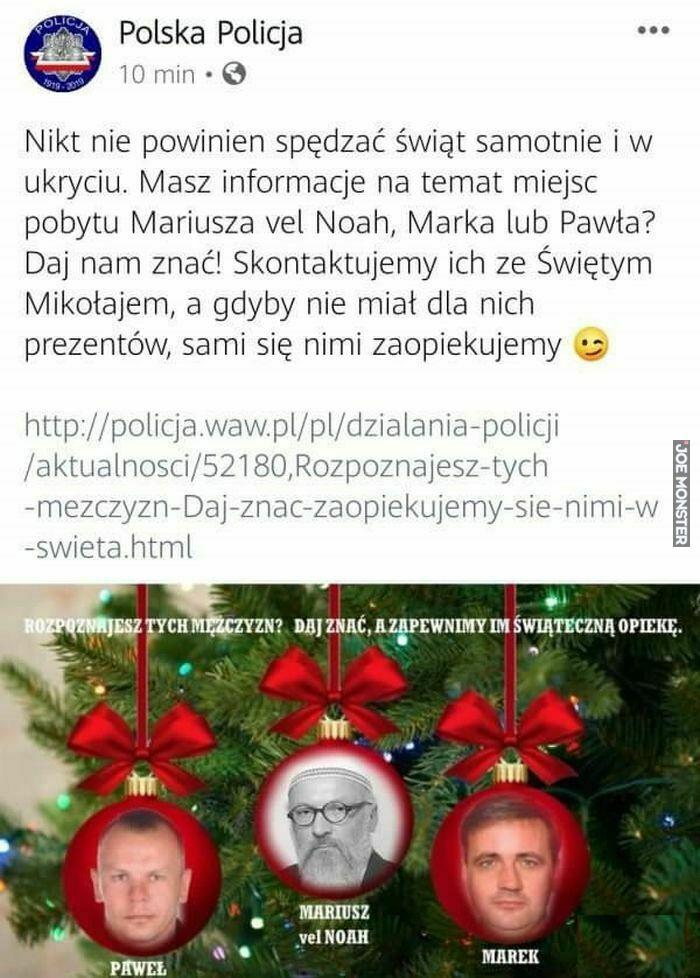 polska policja nikt nie powinien spędzać świąt
