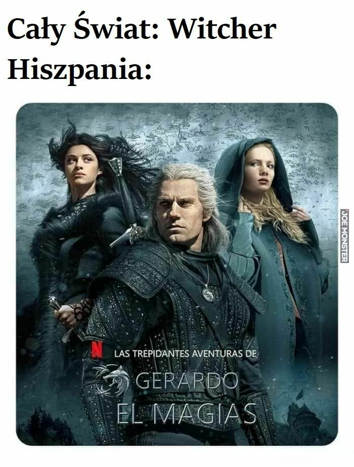 cały świat witcher hiszpania