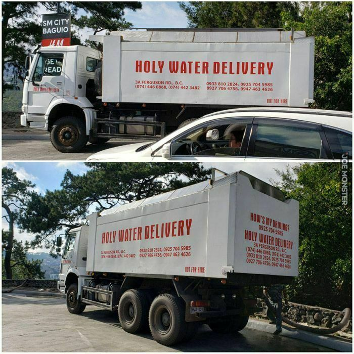holy water delivery