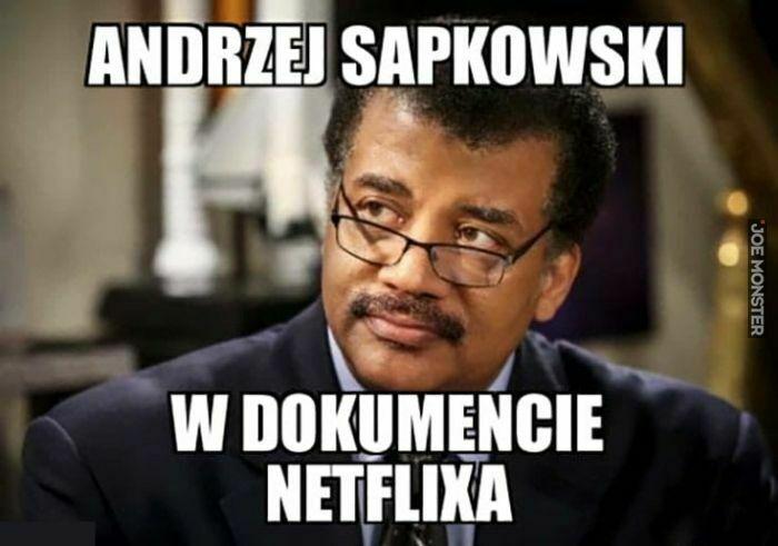 andrzej sapkowski w dokumencie netflixa