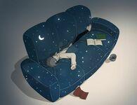 Leżenie na kanapie wciąga