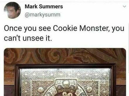 Jak raz zobaczysz tu Ciasteczkowego Potwora, to tego już nie da się odzobaczyć
