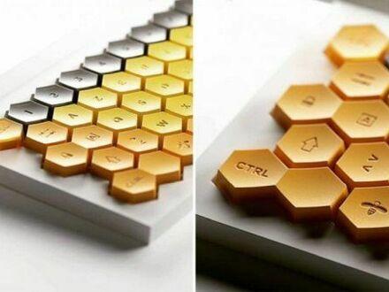 Klawiatura z przyciskami w kształcie plastra miodu