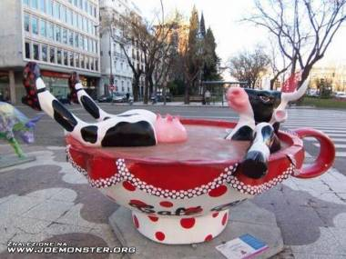 Zrelaksowana krowa