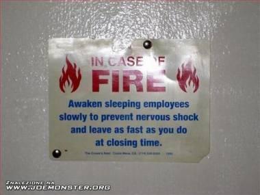 W przypadku pożaru...