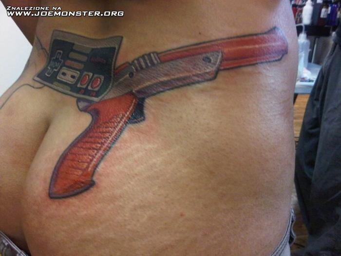 Tatuaż Gracza Joe Monster