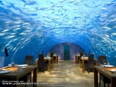 Podwodna restauracja na Malediwach