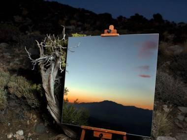 Zdjęcie lustra jak obraz