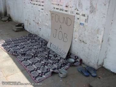 Znalazł pracę
