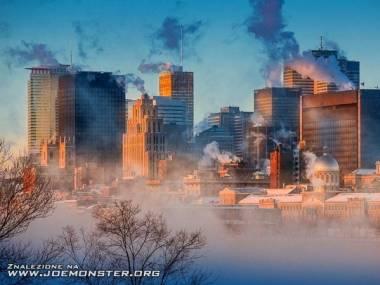 Montreal o poranku przy -36 stopniach Celsjusza