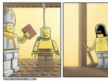 Ciężko powiesić ludzika lego