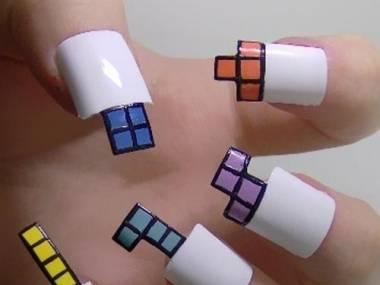 Tetris paznokcie