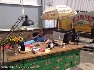 Piwne biuro na świeżym powietrzu