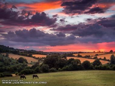 Zachód słońca nad Irlandią