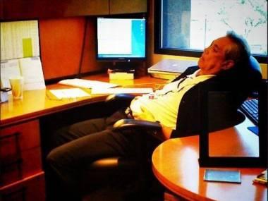 Tak wyglądam w biurze po przerwie obiadowej