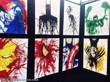 Namazani superbohaterowie na wystawie w muzeum w Dallas