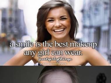 Uśmiech najlepszym makijażem dziewczyny