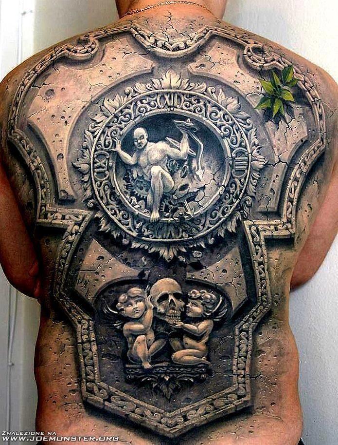 Mega Tatuaż Na Plecach Joe Monster