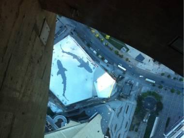 Widok z CN Tower w Kanadzie, 553 metry nad ziemią