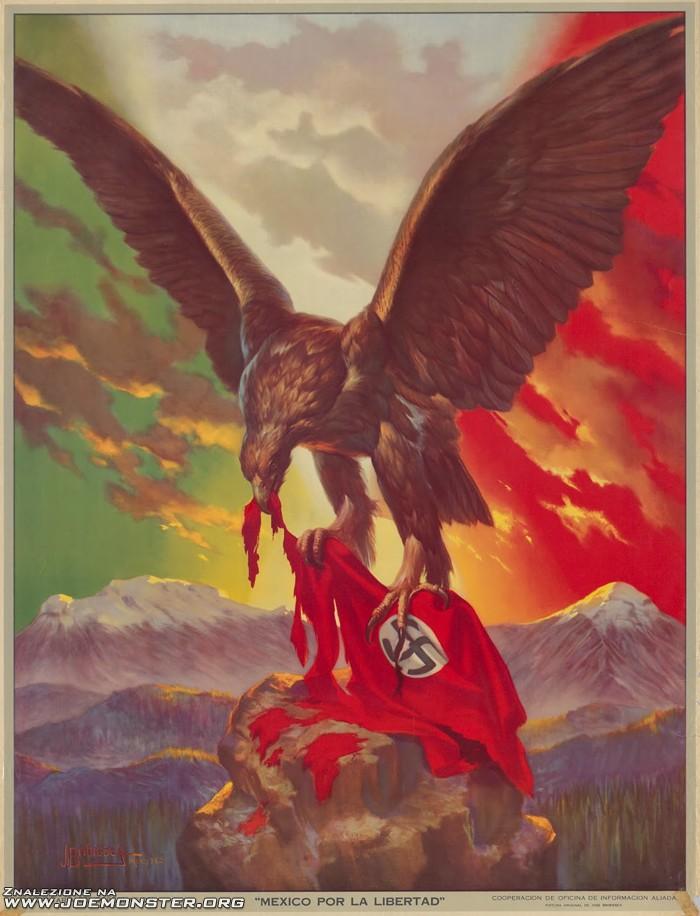 Meksykański Plakat Propagandowy Z Czasów Ii Wojny światowej