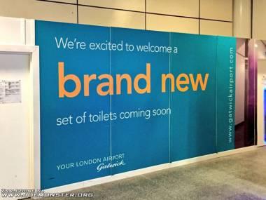 Gatwick reklamuje swoje nowe toalety