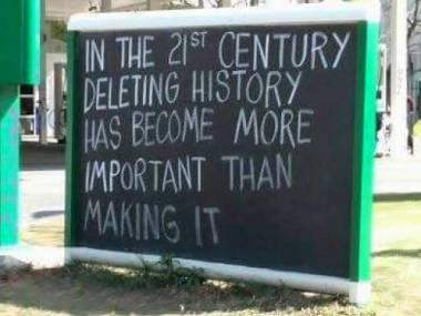 W XXI wieku usuwanie historii stało się ważniejsze, niż tworzenie jej