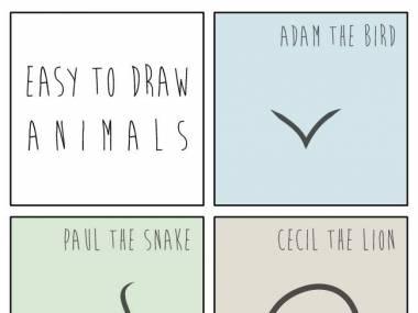Łatwo jest rysować zwierzęta