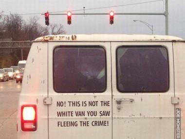 Nie! To nie ten van, którego widziałeś jak uciekał z miejsca przestępstwa