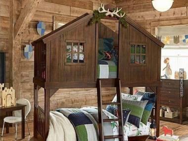 Efektowne piętrowe łóżko