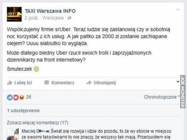 Taxi Warszawa - gówno ich obchodzą klienci