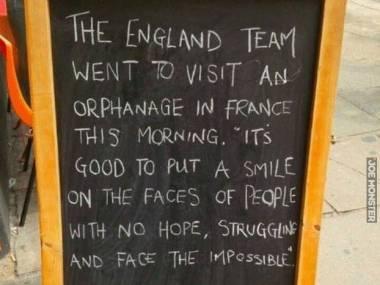 Znalezione we Francji po porażce Anglii z Islandią