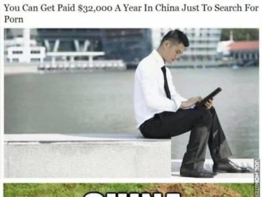 W Chinach możesz zarobić 32.000 dolarów za szukanie pornosów