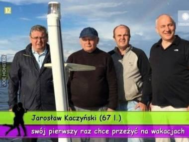 Prezes Kaczyński w gronie bliskich wczasował pod Szczecinem