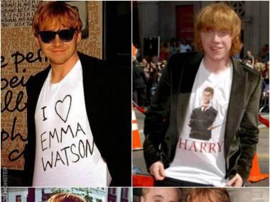 Rupertt jest wielkim fanem sagi o Harrym Potterze