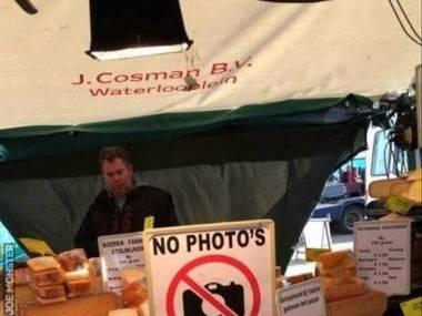 """""""Żadnych zdjęć. Po prostu kup ser."""""""